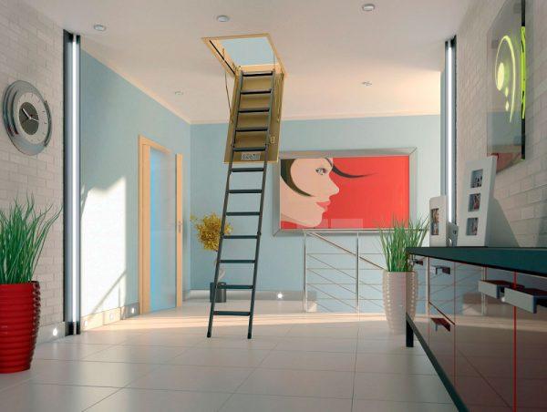 Картинка Складная металлическая лестница Fakro LMS