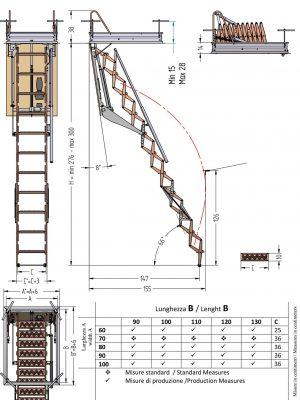 Чердачная лестница с электроприводом FGM