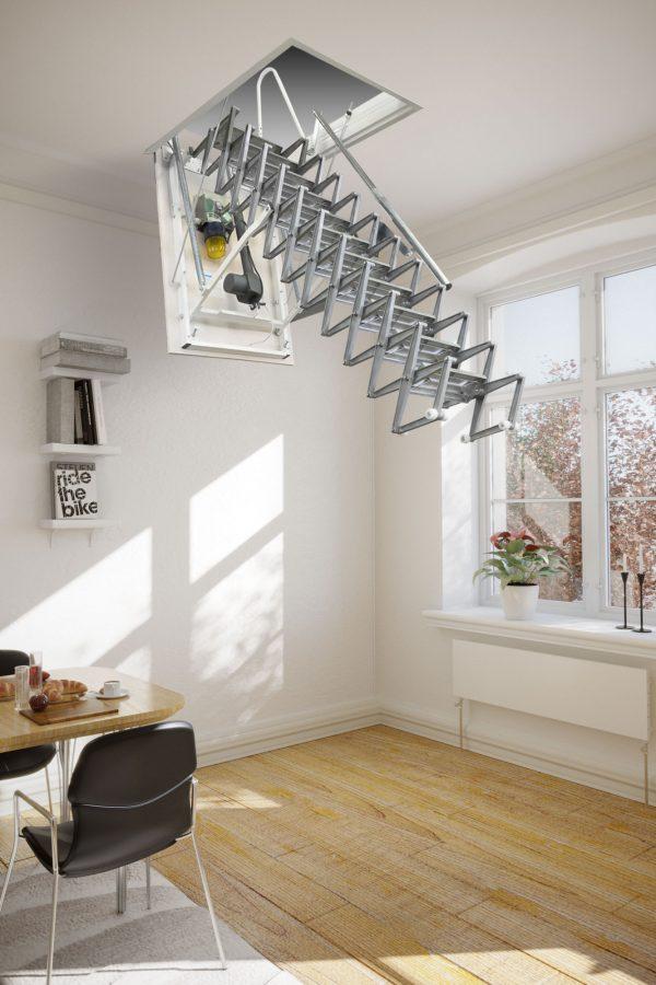 Картинка Чердачная лестница с электроприводом - FANTOZZISCALE MOTOR BASE3