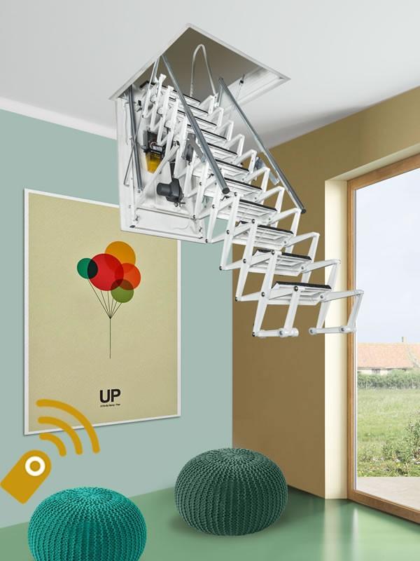 Картинка Чердачная лестница с электроприводом - FANTOZZISCALE MOTOR